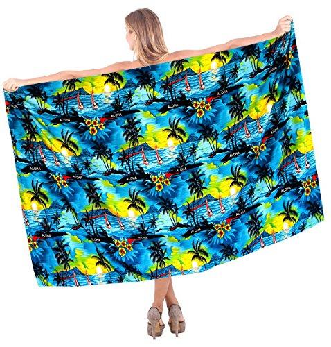 Strand tragen swimwear Frauen Sarong Badeanzug Kleid türkis vertuschen (Sarong Vertuschen)