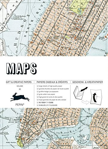 Mit Bücher Landkarten (Maps: Gift & Creative Paper Book Vol. 60 (Gift & Creative Paper Books))