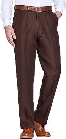 Chums Mens Stretch Waist Formal Smart Work Trouser Pants Hidden Elasticated Trousers