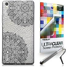 CASEiLIKE Arte de la mandala 2093 Bumper Prima Híbrido Duro Protección Case Cover Funda Cascara for Huawei Ascend P7 +Protector de Pantalla +Plumas Stylus retráctil (Color al azar)