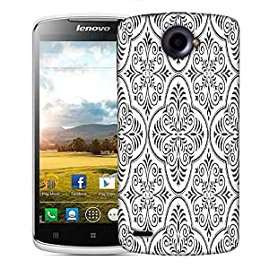 Snoogg Grey Color Pattern Designer Protective Phone Back Case Cover For Lenovo S920