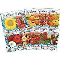 Tradico Super Agri-Fab Green Flowers Semillas para Temporada de Verano Pack DE 10(2Kit de 20pkts) 40/50Semillas Cada