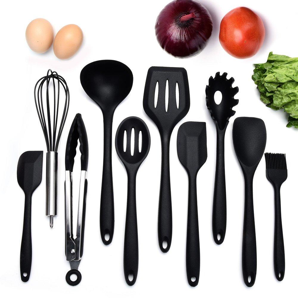 10 Stücke Silikon Küchenutensilien Küchenhelfer Kochen Zange ...