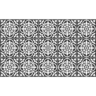 Ambiance-Live 60Aufkleber Fliesen   Sticker Selbstklebend Fliesen-Mosaik Fliesen Wandtattoo Badezimmer und Küche   Fliesen Kleber-Nuance de grau CLASSIQUES-10x 10cm-60-teilig