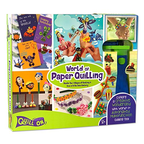 Quill On World of Paper Quilling - Fun Craft Kit - Perfect Gift for Girls and Boys of 8 Years and Above