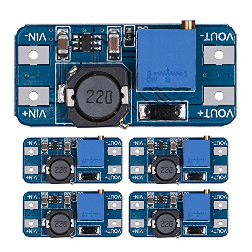 Demiawaking MT3608 2A DC-DC Step Up Power Booster Power Module für Arduino (5Stk.)
