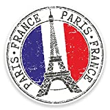 2 x Tour Eiffel Paris France Sticker voiture pour ordinateur portable en voyage Bagage # 9271 - 10cm Wide x 10cm High