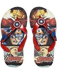Marvel Boy's Captain America Flip-Flops