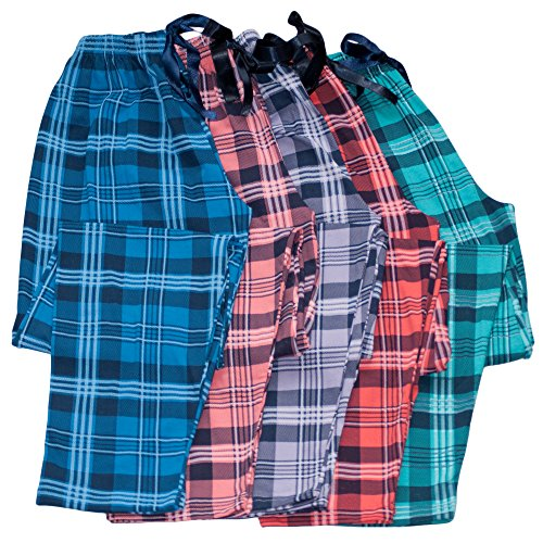 Dazoriginal Pyjama Donna Pantaloni inverno Donna lunghe da notte Pigiama donna Cotone Pantaloni Blu