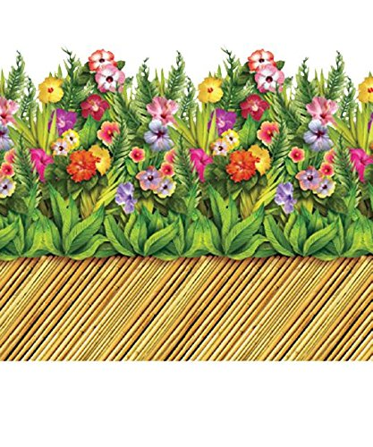 Tropical Flower Border (Halloween-hintergrund-szene)