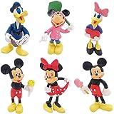 Juego de 6 PCS de Mini Mickey, Sombrero de Copa de Mickey, Decoraciones para Pasteles de Cumpleaños, Mini Juguetes para Niños
