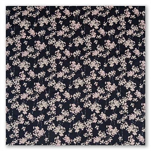 Furoshiki Japonais Grand Noir Fleur de Cerisier