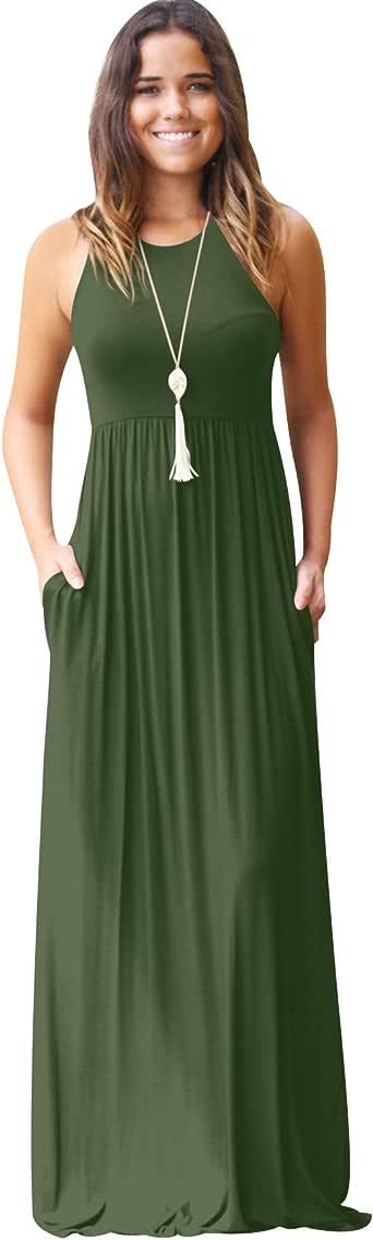 Lange Kleider Damen Maxikleid Sommerkleider Lang Maxi ...