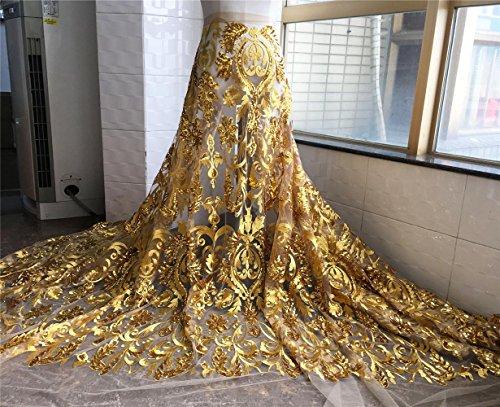 12Farbe Choices Stickerei Braut Spitze Stoff 149,9cm Breite Floral Perlen Hochzeit Spitze Stoff...
