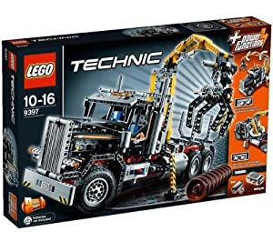 LEGO Technic - Logging Truck - 9397 9397 (The super realistic Technic - Logging Truck - 9397 from LEGO is made up of 1,300 parts.The Power Functions controls make it easy to lower, lift and turn the motorised arm and unfold the stabilisers… )