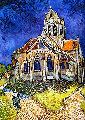 Vincent Van Gogh: La Chiesa di Auvers-sur-Oise. Stampa Fine Art/Poster.