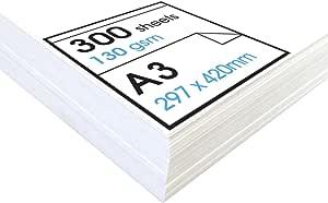 Artway Studio - Cartoncino da disegno senza acidi - Fogli singoli da usare a secco - 130gm² - A3-300 fogli