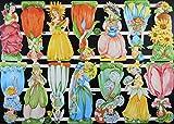 1 Bogen 22 cm Glanzbilder EF 7412 Blumenkinder Posie Bild Figur Scrapbook Deko 210