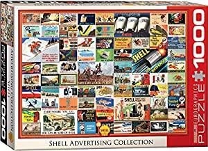 """EuroGraphics """"Herencia Shell Vintage Collection Puzzle (1000 Piezas, Multi-Color)"""