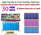 #8: Toy-Station Toy Bullet Foam Dart Bullets for Nerf N-Strike Elite Guns, (30-Pieces NERF Bullets Multicolour)