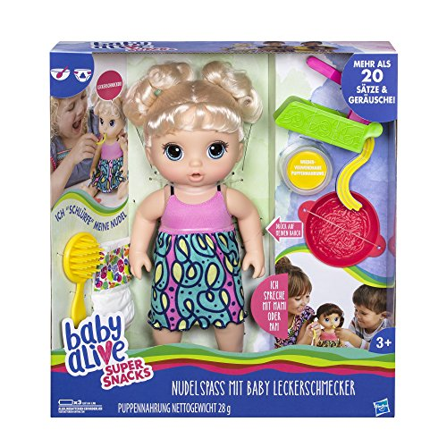 Hasbro Baby Alive C0963100 - Baby Leckerschmecker, Puppe (Puppe Baby Alive Hasbro)