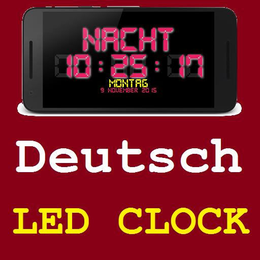 German Night LED Clock