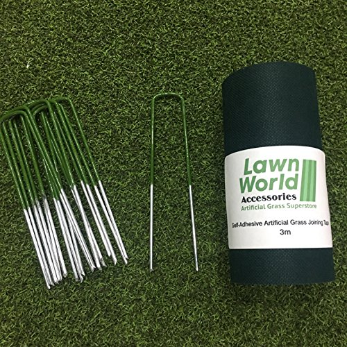 lawn-world-artificial-grass-turf-tape-self-adhesive-3m-10-half-green-u-pins-staples-fixing-galvanise