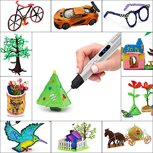 3D Stift Set, Homecube 3D Druckerstift DIY Scribbler 3D Stereoscopic Printing Pen mit LED-Anzeige, Keramikdüsen, USB-Verbindung, kompatibel mit 1,75 mm ABS und PLA Filamente, gratis Filamente, direkt losdrucken - 3
