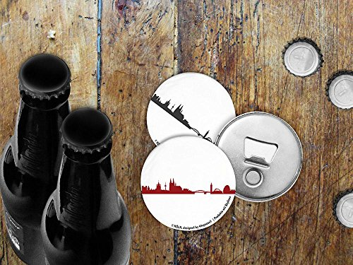 44spaces Magnetischer Flaschenöffner mit KÖLN – Silhouette – City Bottle Opener