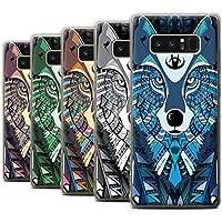 Stuff4 Coque Gel TPU de STUFF4/Coque pour Samsung Galaxy Note 8/N950/Loup-8 Pack/Motif Animaux Aztec