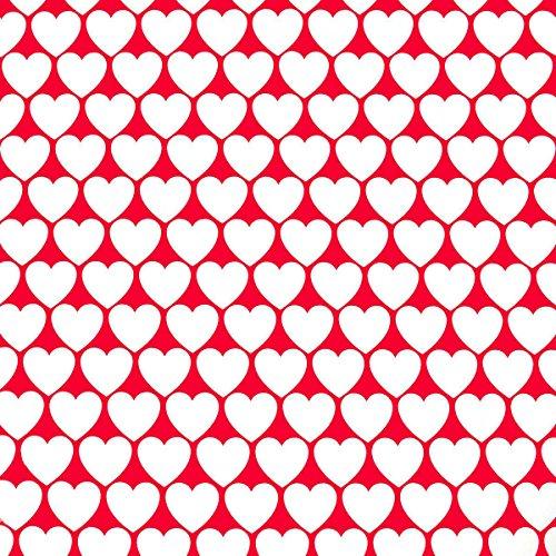 chenkpapier Herzen - rot-weiß - 2 m x 0,70 m (Rotes Und Weißes Geschenkpapier)