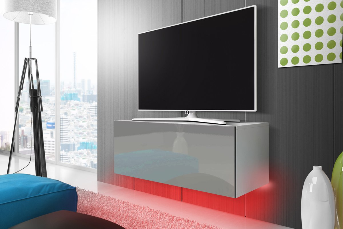 Lana Meuble Tv Suspendu Table Basse Tv Banc Tv De Salon 140  # Meuble Tv A Accrocher Au Mur