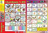 2-in-1 KNOW YOUR NUMBERS 1-20 & ALPHABET - Early Years Poster / Wall Chart - With Perforations - 60cm x 40cm