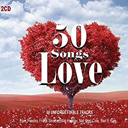 2CD 50 Songs Love, Romantic Music, Musica D'Amore, Elvis presley, Billie Holiday, Tommy Dorsey, Juliette Greco, Love Music
