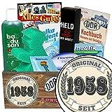 Original seit 1958 | Pflege Geschenk | Geschenk Set | Original seit 1958 | Pflege Box | Geschenk Ehefrau | Geschenke zum 60 Geburtstag Papa | INKL DDR Kochbuch