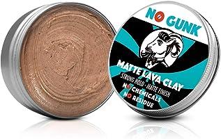 NO GUNK 100% Natürliche Matt Clay Haarwachs/Haarpaste - Starker Halt - Nur mit natürlichen und bio Inhaltsstoffen -...