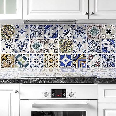 PS00007 Adesivi murali in pvc per piastrelle