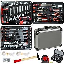 TecTake Maletín con herramientas 500pc piezas maleta caja martillo