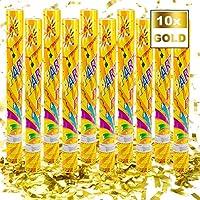 Goods & Gadgets Confetti Cannon Confetti Shooter Party Popper Confetti Cannon - XL 60 cm - Gold