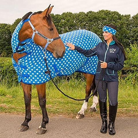 Cavallo Coperta da cavallo in pile, traspirante, tutte le misure e colori, Navy/White Star, UK 5'6 / EU 125 cm