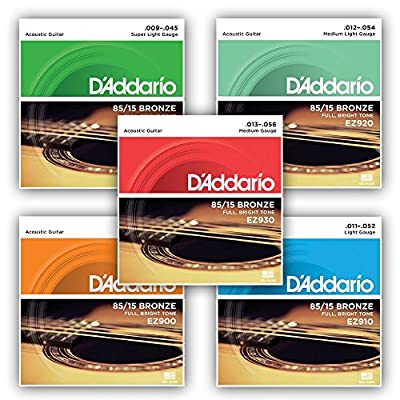 D'addario 85/15 American Bronze Acoustic Guitar Strings - cheap UK light shop.
