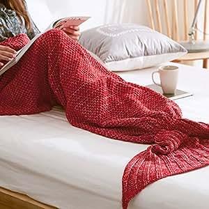 wuiyepo meerjungfrau strickmuster decke all seasons gestrickte seatail decke schlafsack. Black Bedroom Furniture Sets. Home Design Ideas
