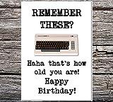 Funny AF Karten Funny Retro/Vintage Style–Born in den 70er/80er–Commodore 64Grußkarte