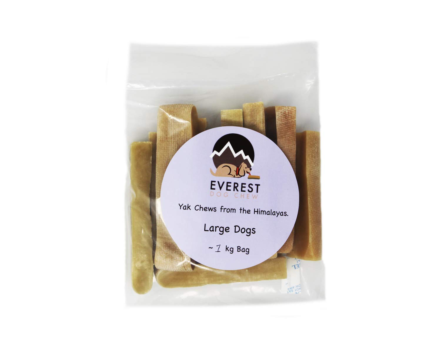 Everest Dog Chew 1KG Large Pack X (11-12 pieces), Yak Chew