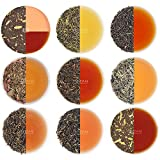 Tè in foglie assortiti, idee regalo natale, 10 tè - Una collezione di finissimo tè nero, tè verde, tè Oolong, tè bianco e tè Chai, 100% ingredienti naturali, 50 porzioni - Confezionati singolarmente