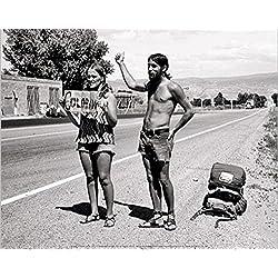 Hippies - Hitchhikers, USA, 1971 Póster Impresión Artística (30 x 24cm)