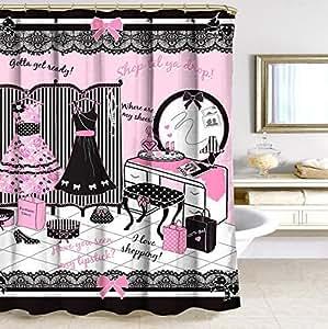 better deco collection glamour girl motif n ud glamour rideau de douche en tissu 183 cm x 183. Black Bedroom Furniture Sets. Home Design Ideas