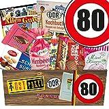 Ostpaket ++ DDR Suessigkeiten-Box ++ Zahl 80 ++ GeburtstagsGeschenke Mama