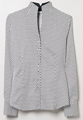 Eterna - Comfort Fit - Damen Langarm Bluse in Schwarz/Weiß bedruckt (7619 D775) Schwarz (39)