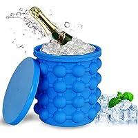 Stampi per Ghiaccio  Cubetti Ghiaccio Stampo Ice Cube Maker Silicone 2 In 1 Ghiaccio Stampo con Coperchio Per Cocktails  Drink  Alcolici  Whiskey  Acqua
